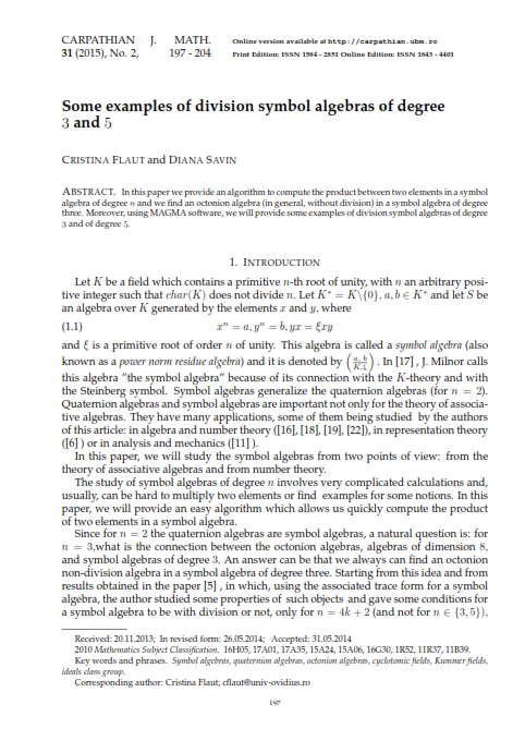 Some Examples Of Division Symbol Algebras Of Degree 33 And 5